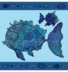 Abstract Cartoon Sea Fish vector image
