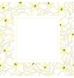 Arabian jasmine banner card vector