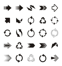 Arrow sign icons vector image