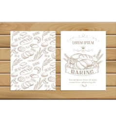 banner baking hand drawn vector image