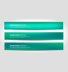 banners with abstract background website vector image