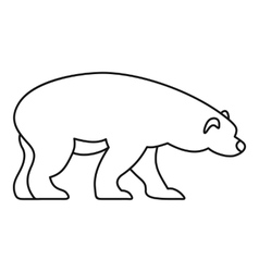 Bear icon outline style vector image