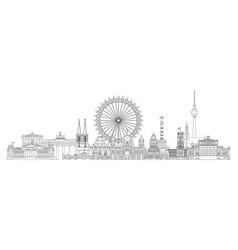 Berlin skyline line art 2 vector
