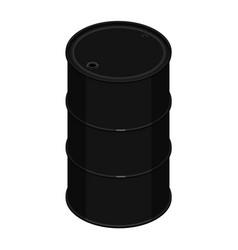 blank oil barrel vector image