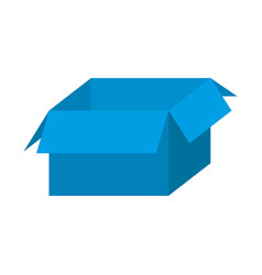 Blue box open icon vector