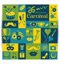 Bright carnival card vector