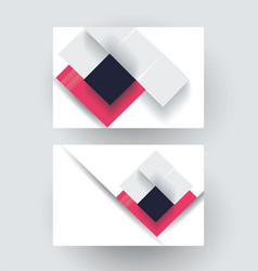 business card design with abstract rhombus vector image