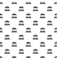 car carousel pattern seamless vector image