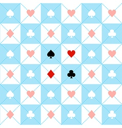 Card Suits Blue White Chess Board Diamond vector