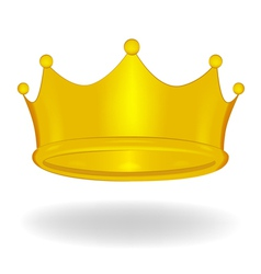 Cartoon crown isolated vector image