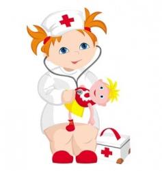 Child doctor vector