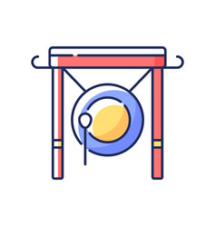 Chinese gong rgb color icon vector