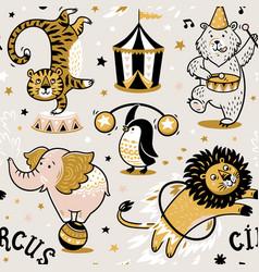 circus seamless pattern vector image