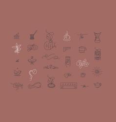 coffee minimalism modern symbols coral vector image