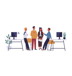 colleagues in office flat vector image