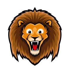 Cute lion sign vector