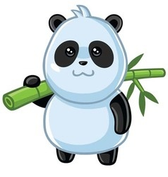Cute Little Panda Cartoon vector