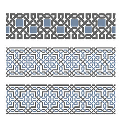 Decorative seamless border vector
