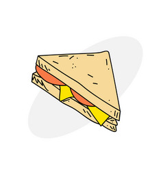 delicious sandwich vector image