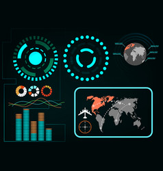 digital interface elements in the hud style vector image