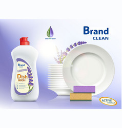 Dishwashing liquid soap vector