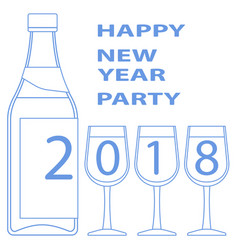 drink 2018 greeting vector image