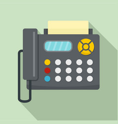 fax machine icon flat style vector image