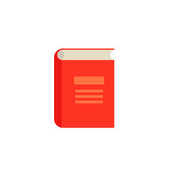 flat closed book icon vector image