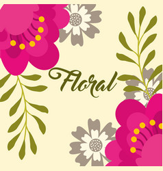 flowers branches leaves botanical floral vector image
