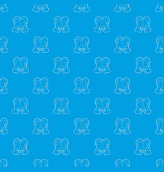 gay couple pattern seamless blue vector image