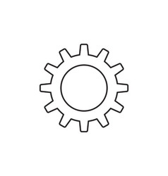 Gear icon outline vector