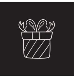 Gift box sketch icon vector image