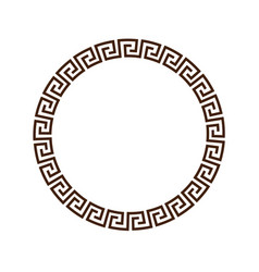 greek round decorative frame for design vector image