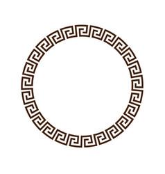 Greek round decorative frame for design vector