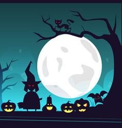 Happy halloween banner trick or treat concept vector