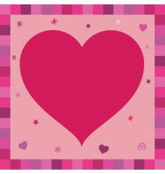 heart greeting card vector image vector image