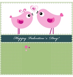 Heart Valentines Day background or card witn birds vector
