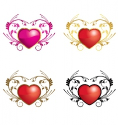Hearts ornamental vector