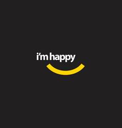 im happy template design vector image