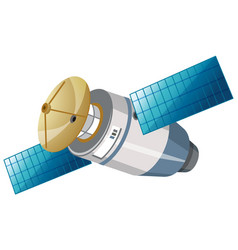 Isolated satellite on white background vector