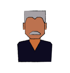 man faceless profile vector image