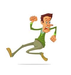 man run away vector image