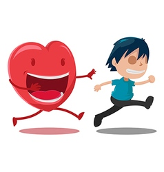Man Scarper Love Cartoon Character vector image