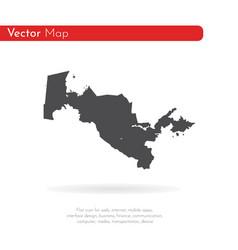 map uzbekistan isolated vector image