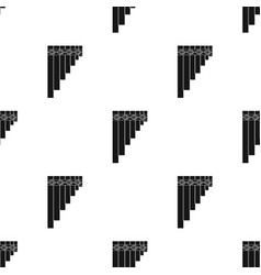 mexican pan flute icon in black style isolated on vector image