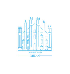 Milan city banek picture vector