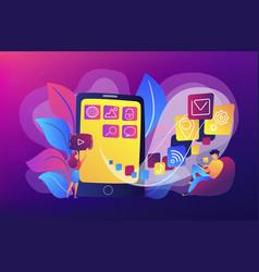 mobile application development vector image
