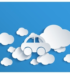 modern cloud design background vector image