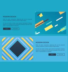 modern design website blue vector image