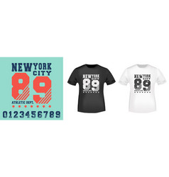 new york city t shirt print stamp vector image